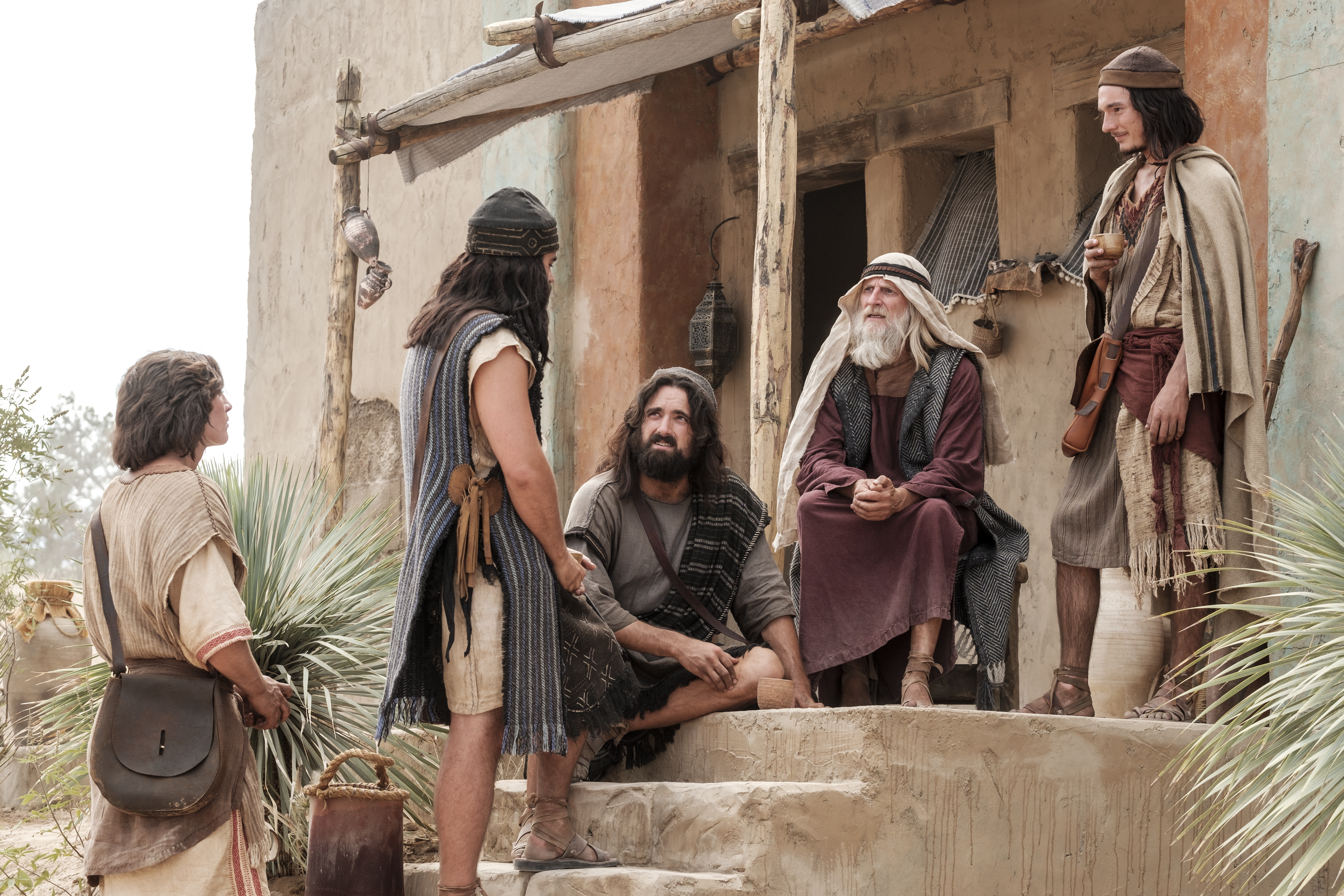 Nephi and his brothers arrive at Ishmael's house.
