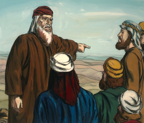 Moses directing people