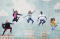 Sky Background with Youth Jumping for Joy