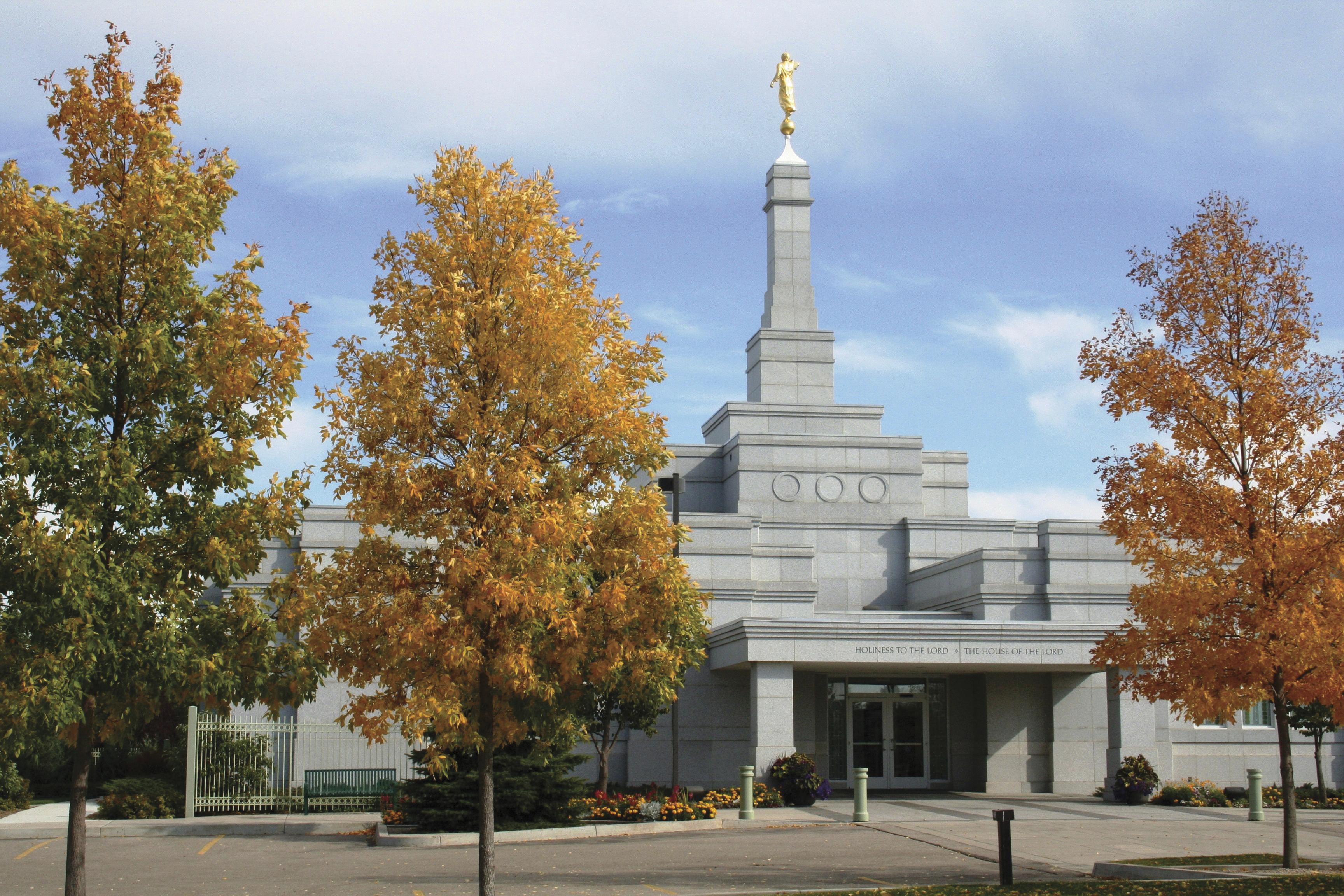 The Regina Saskatchewan Temple entrance and scenery.