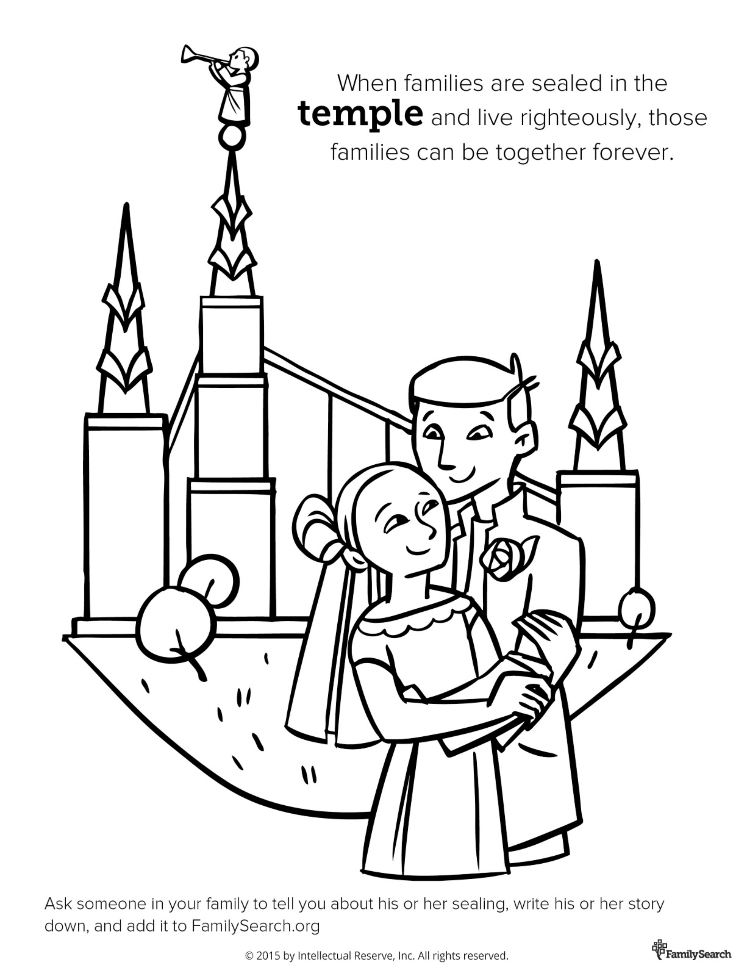 Temple Sealing Card Temple Sealing Printable Card Temple Card Temple Sealing Gift LDS Temple SLC Temple Sealing Gift Greeting Card