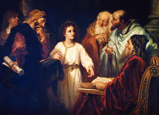 Jesus in the Temple, by Heinrich Hofmann