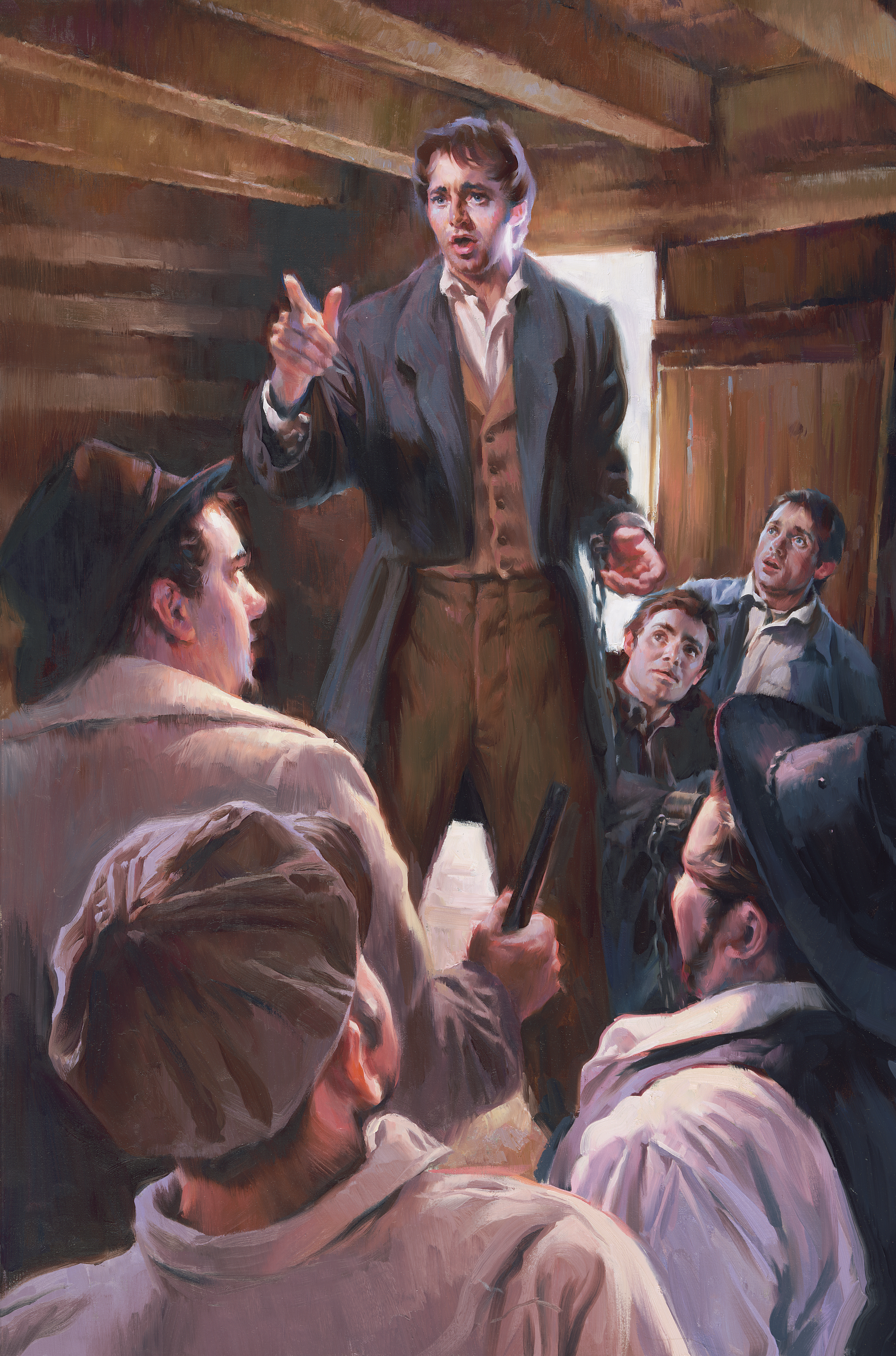 Joseph Smith Rebuking the Guards in Richmond Jail, by Sam Lawlor