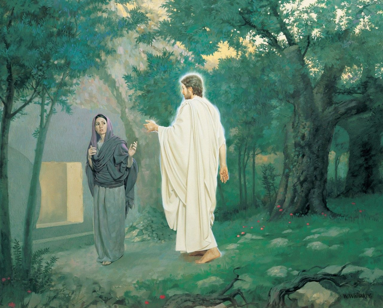 """Jesus Said to Her, """"Mary,"""" by William Whitaker"""