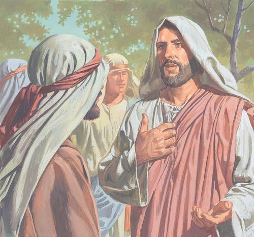 Jesus talking to Peter