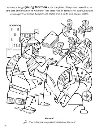 Ammaron Taught Mormon about the Sacred Record coloring page