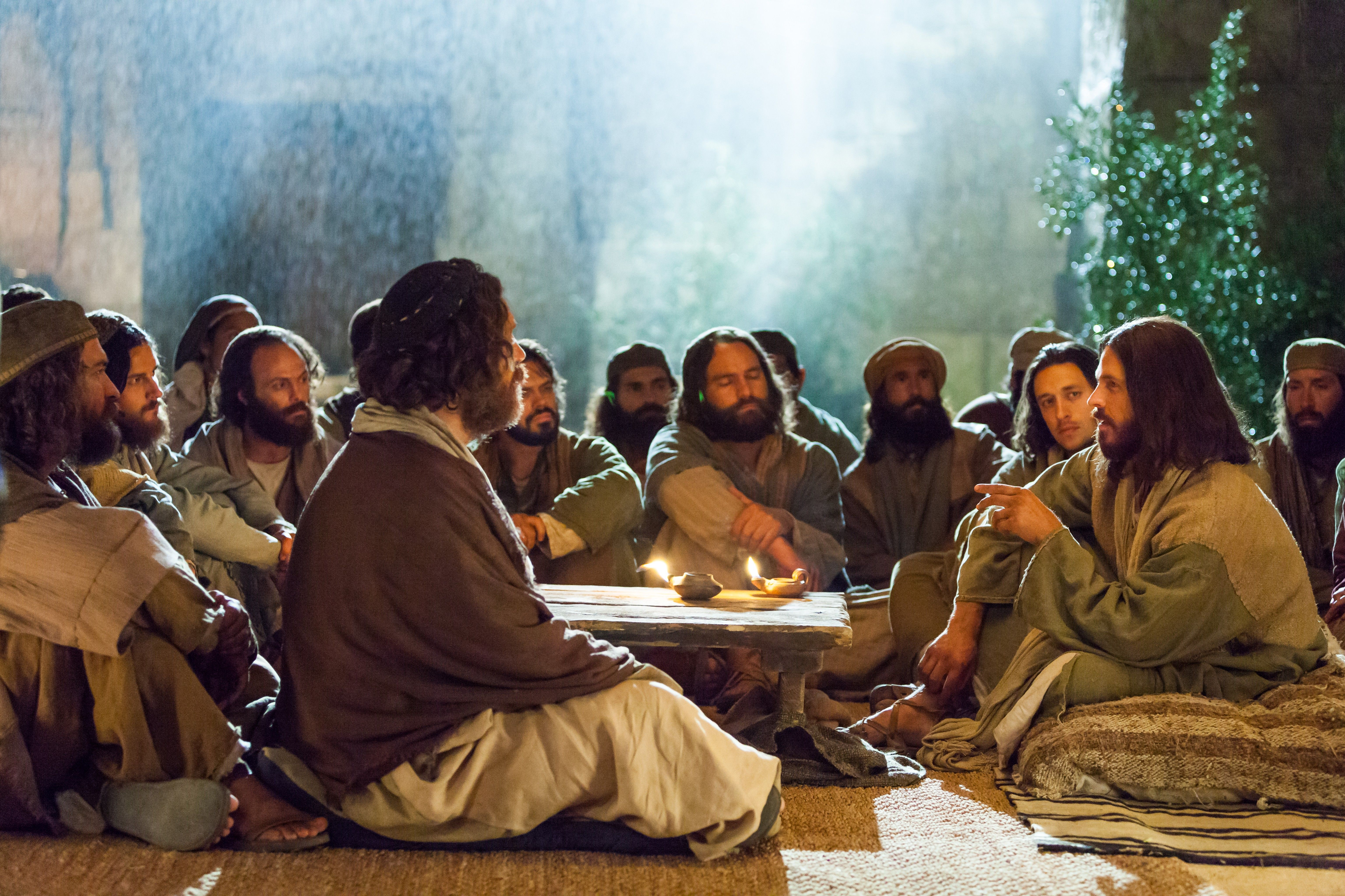 Jesus teaches about the kingdom of heaven.