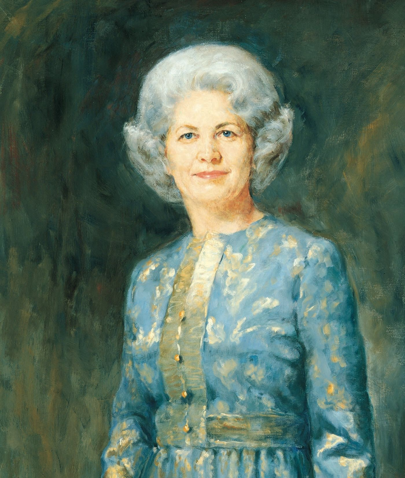 A portrait of Barbara Bradshaw Smith, who was the 10th general president of the Relief Society from 1974 to 1984; painted by Cloy Paulson Kent.