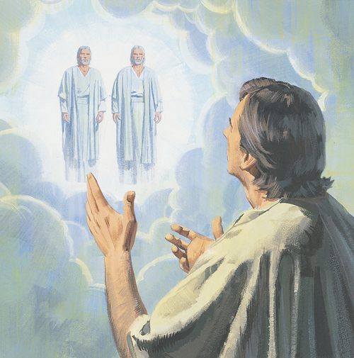 Heavenly Father and Jesus appearing to Stephen