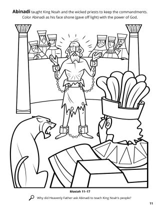 Abinadi and King Noah coloring page