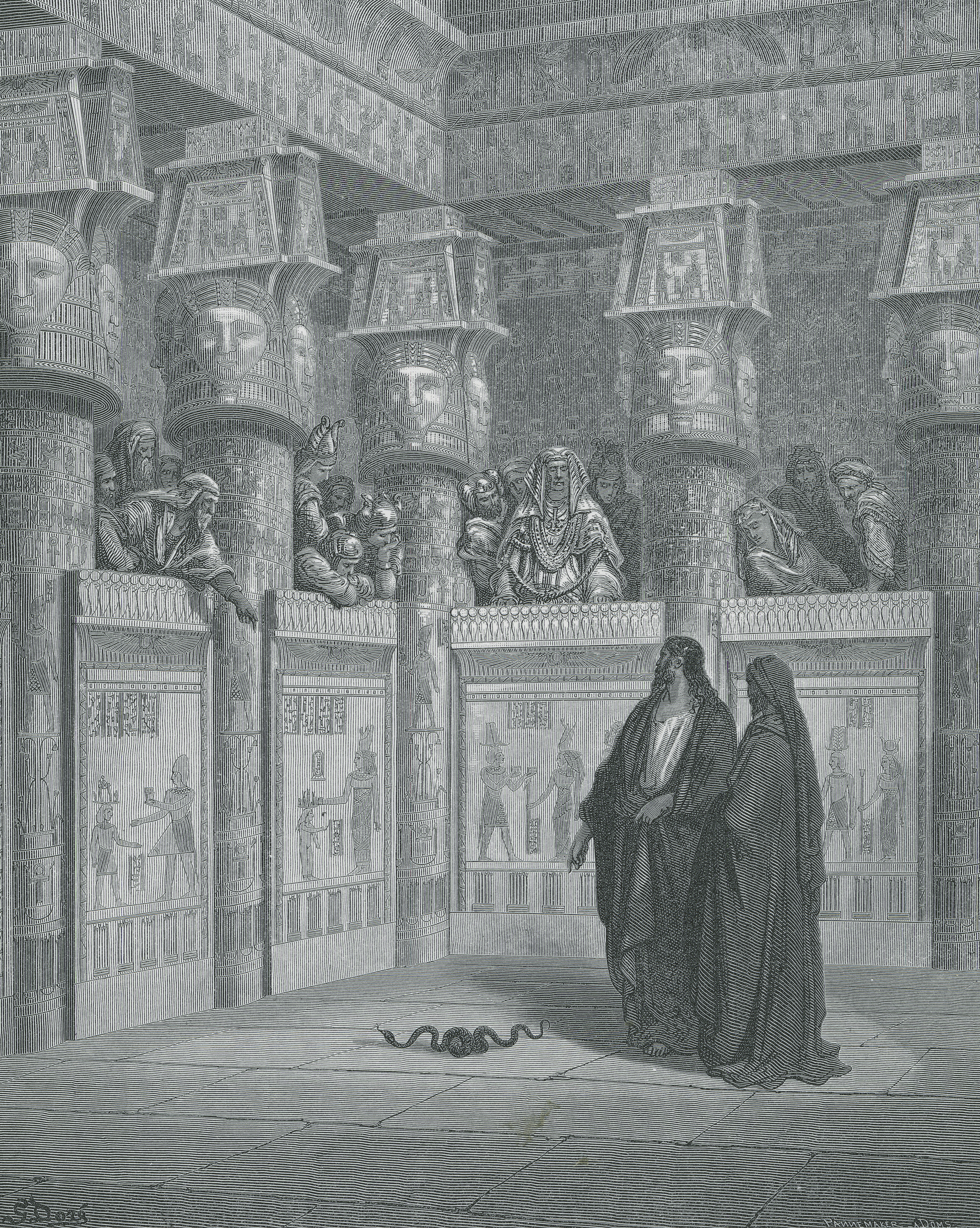 Moses and Aaron before the Pharaoh, by Paul Gustave Doré