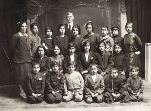 Joseph Wilford Booth with Armenian children [ca. 1928]