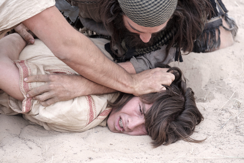 Laman and Lemuel tie up Nephi.