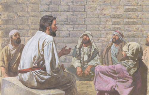 Jesus teaching Apostles