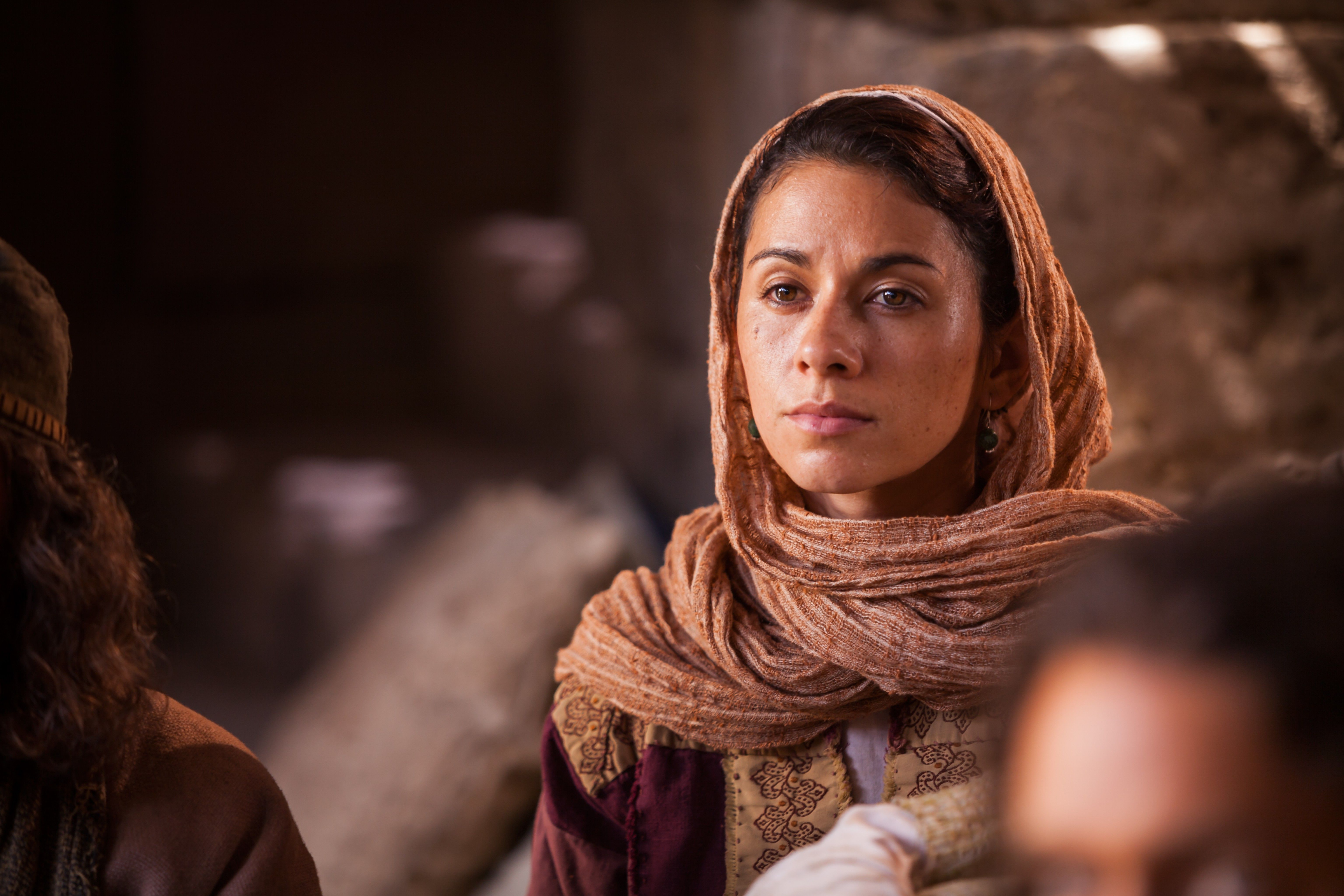 """Mary Magdalene listening to Christ speak of our need to """"become as little children."""""""