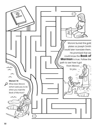 Moroni Buried the Gold Plates coloring page