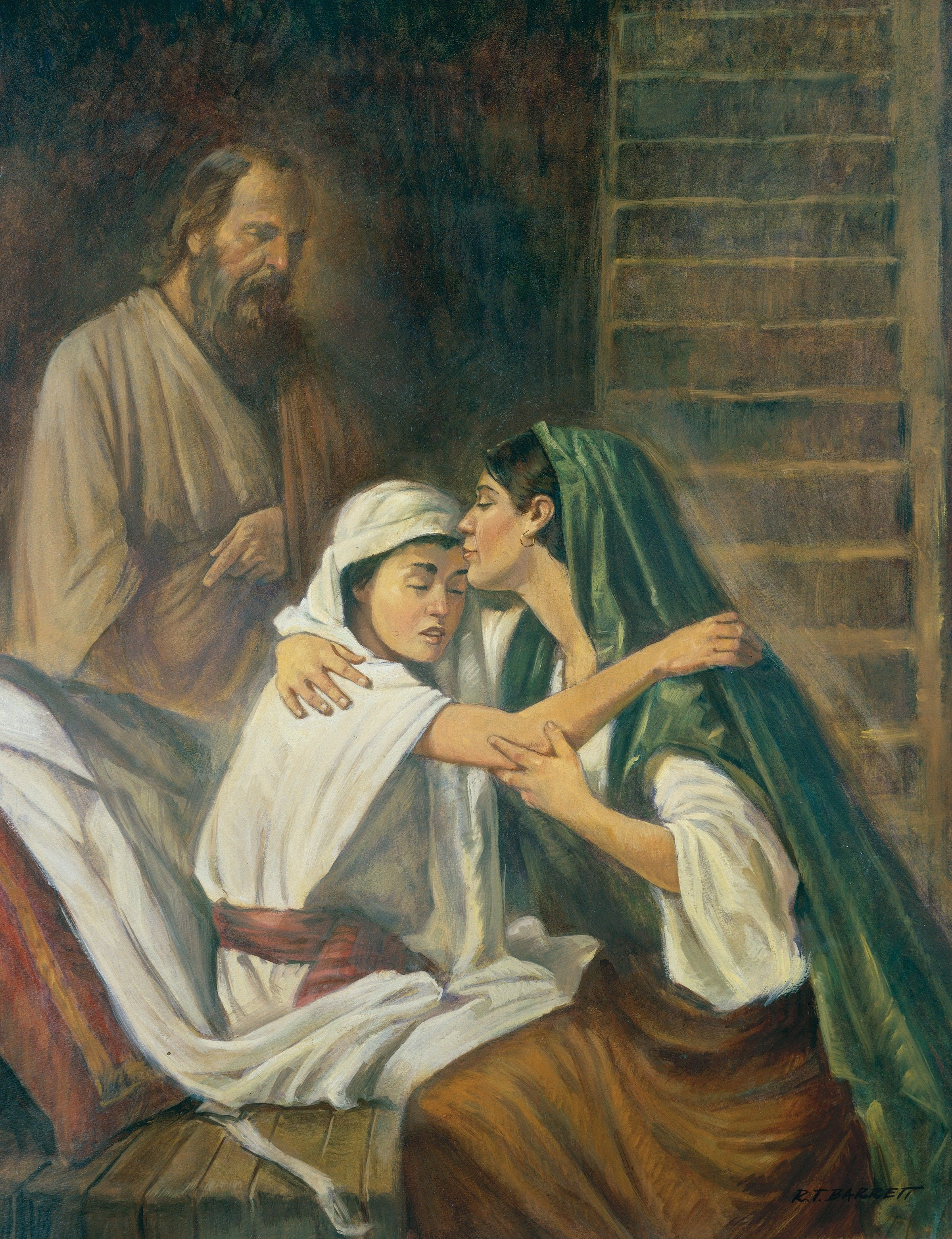 Elijah Raises the Widow's Son from Death, by Robert T. Barrett