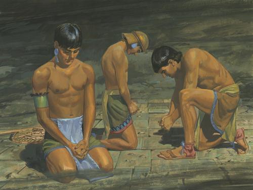 Lamanites praying