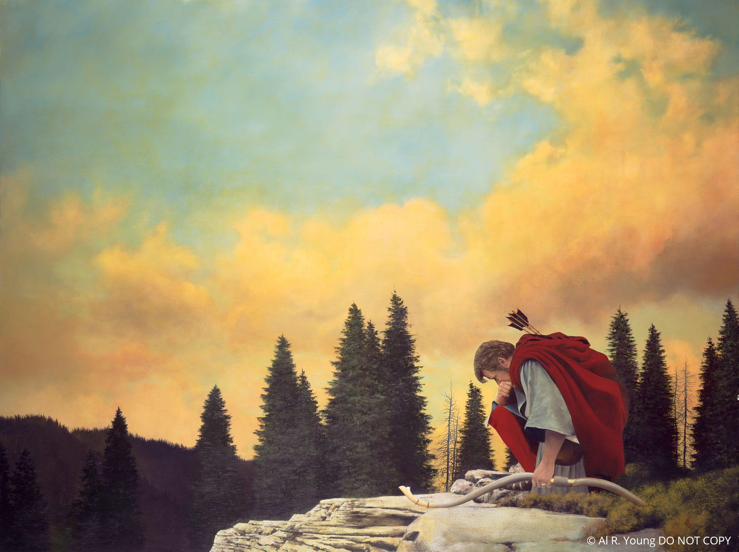 And My Soul Hungered (Enos Praying), by Al R. Young; GAB 72; Enos 1; © Al R. Young: DO NOT COPY This asset is not available for download. It is for Church use and online viewing only. See the Media Library usage page for more information. © undefined ipCode 1.