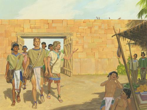 Lamanites and Nephites walking