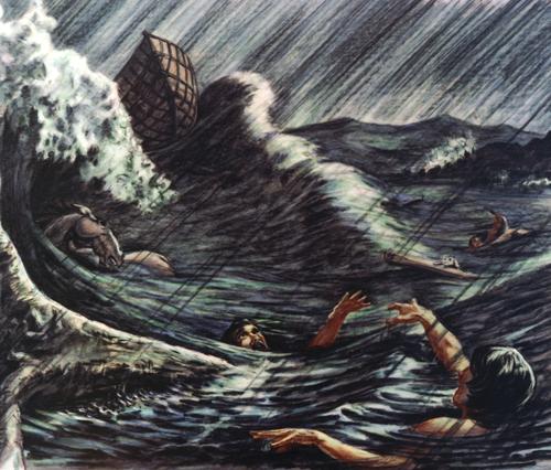 people drowning