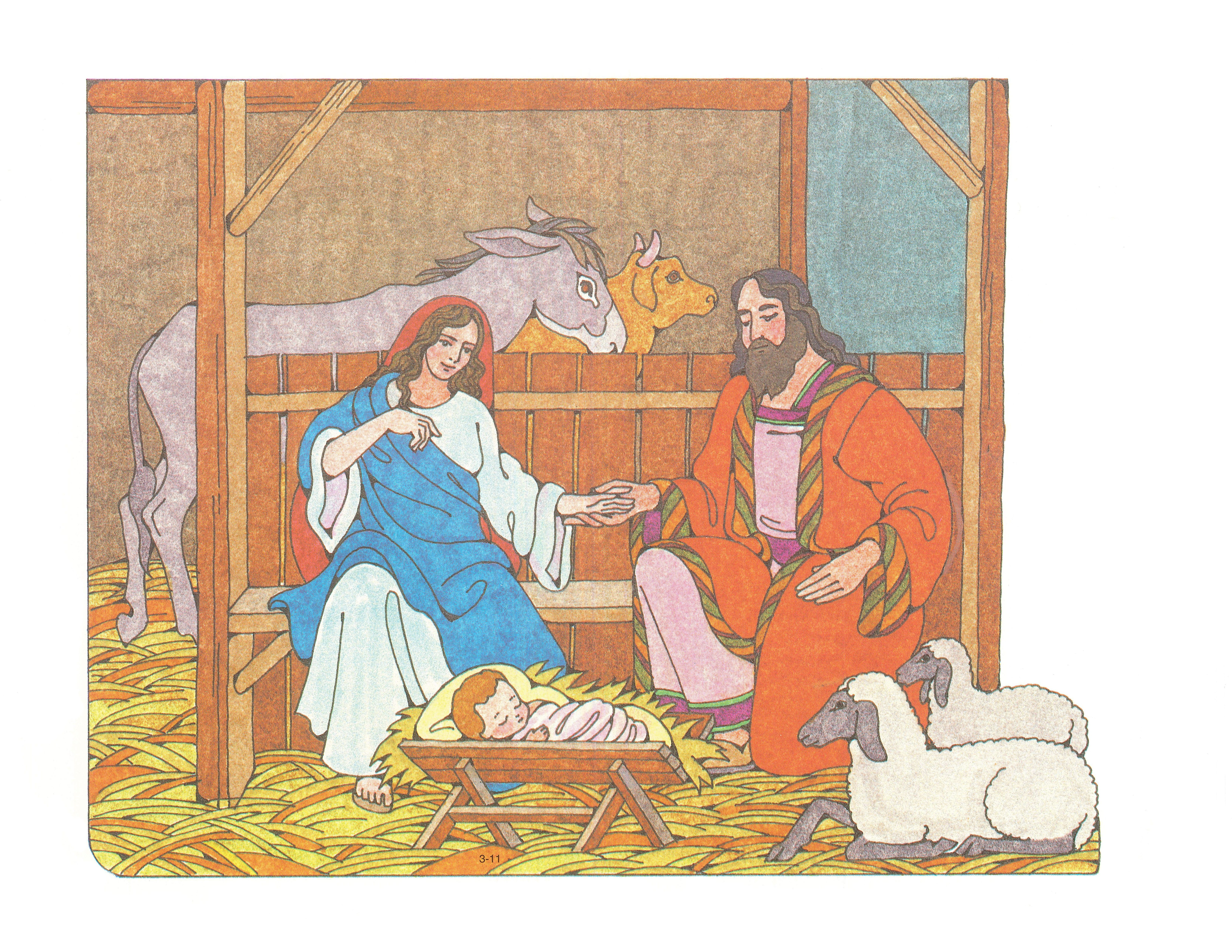 Primary 3: Choose the Right B Cutouts 3-11 The Birth of Jesus Christ.