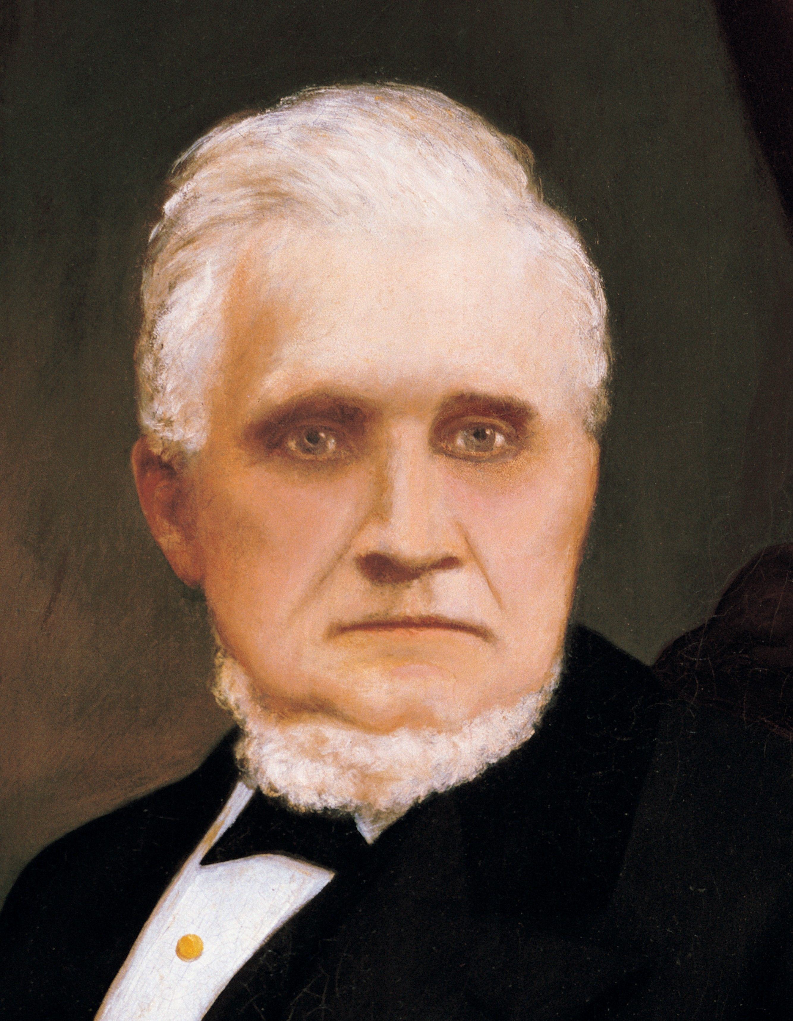 Detail from John Taylor, by A. Westwood; GAK 508; Our Heritage, 93–98. President John Taylor served as the third President of the Church from 1880 to 1887.