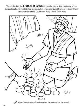The Brother of Jared Saw the Lord's Finger coloring page