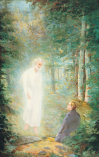 Moroni Delivers the Gold Plates to Joseph on Hill Cumorah