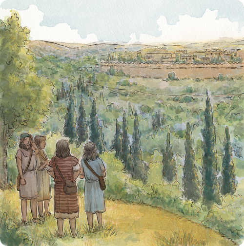 Nephi and Brothers Traveling