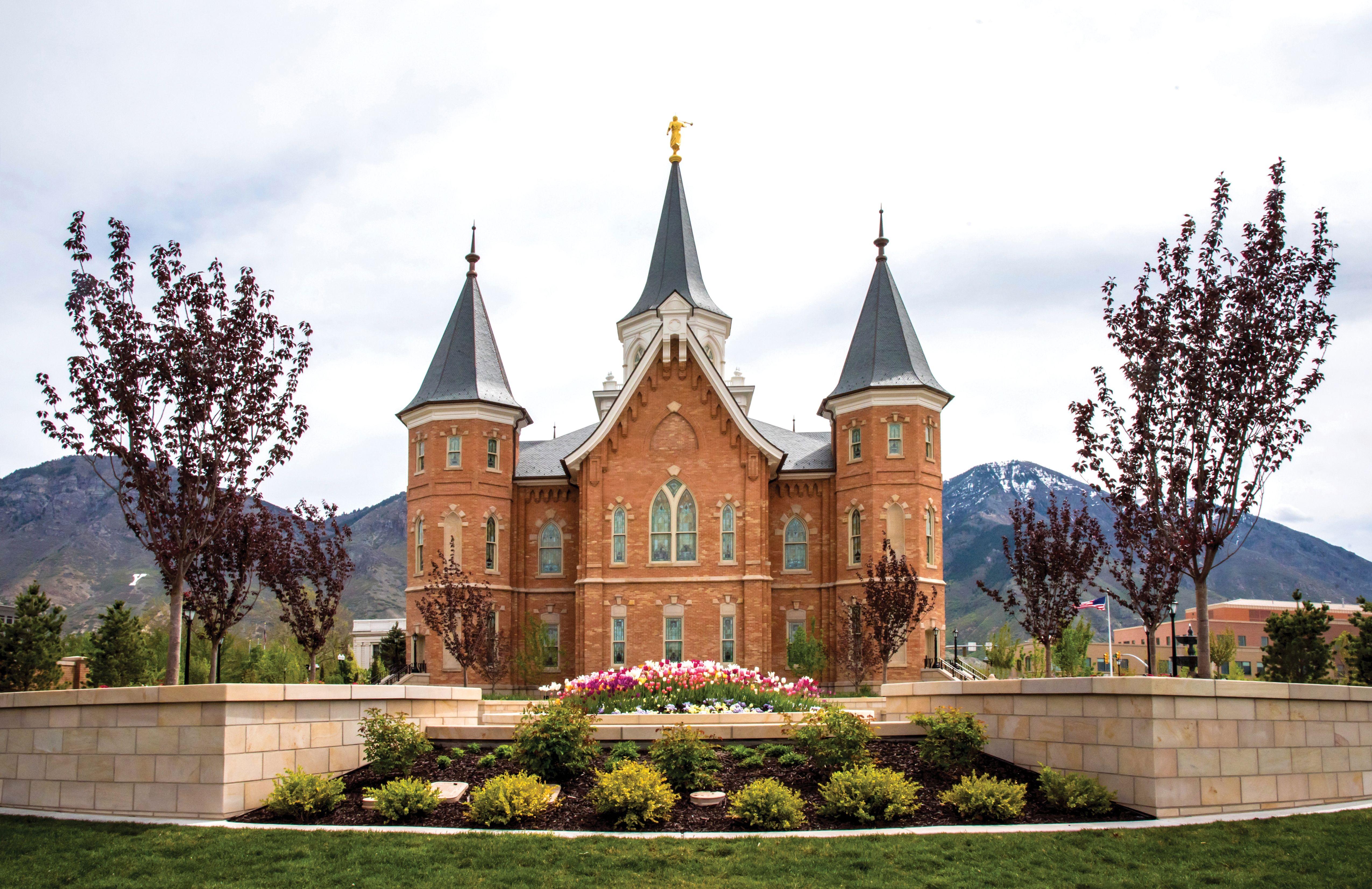 The Provo City Center Temple.