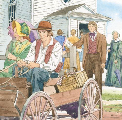 people on wagon