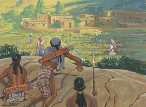 Lamanites trying to kill Nephites