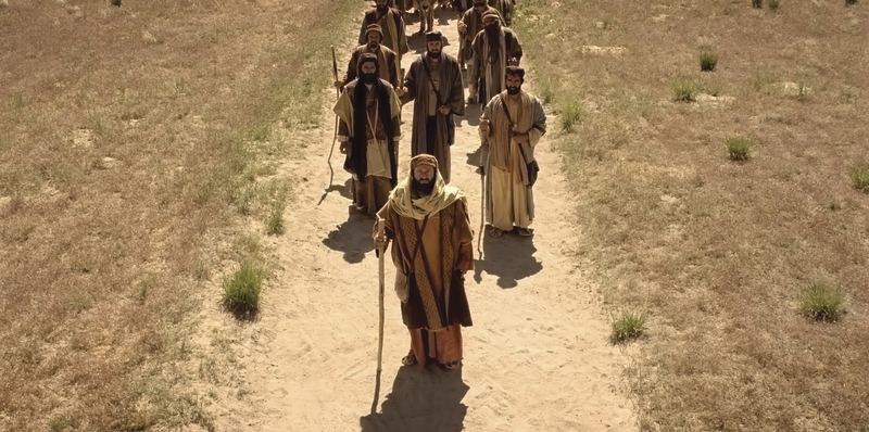 Acts 22, Saul and his company on the road to Damascus