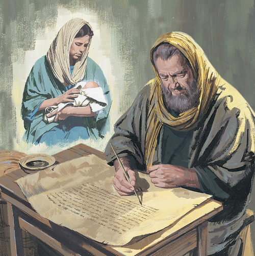 prophet writing about Jesus's birth