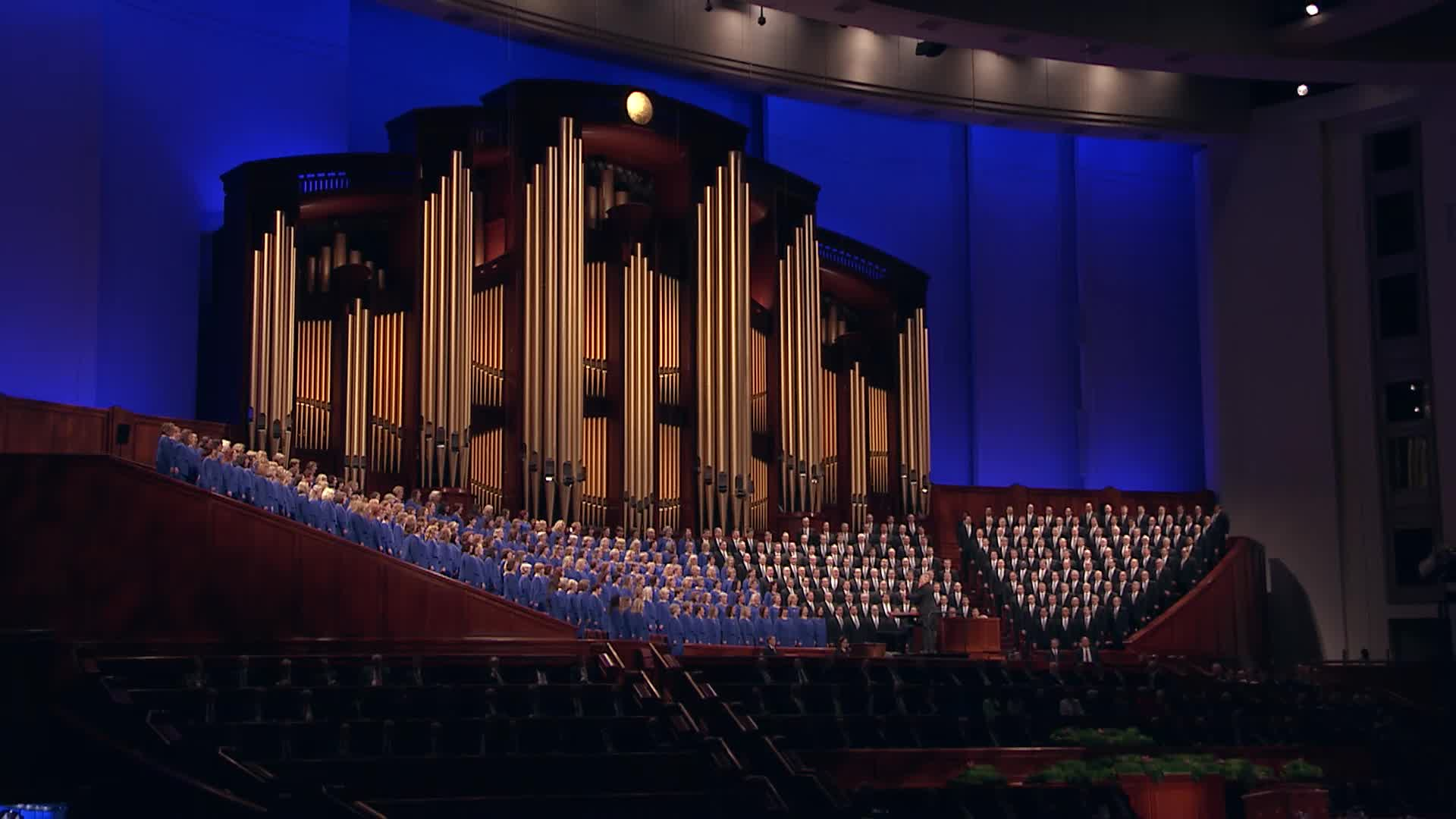 """The Mormon Tabernacle Choir sings, """"Come, Thou Fount of Every Blessing."""""""