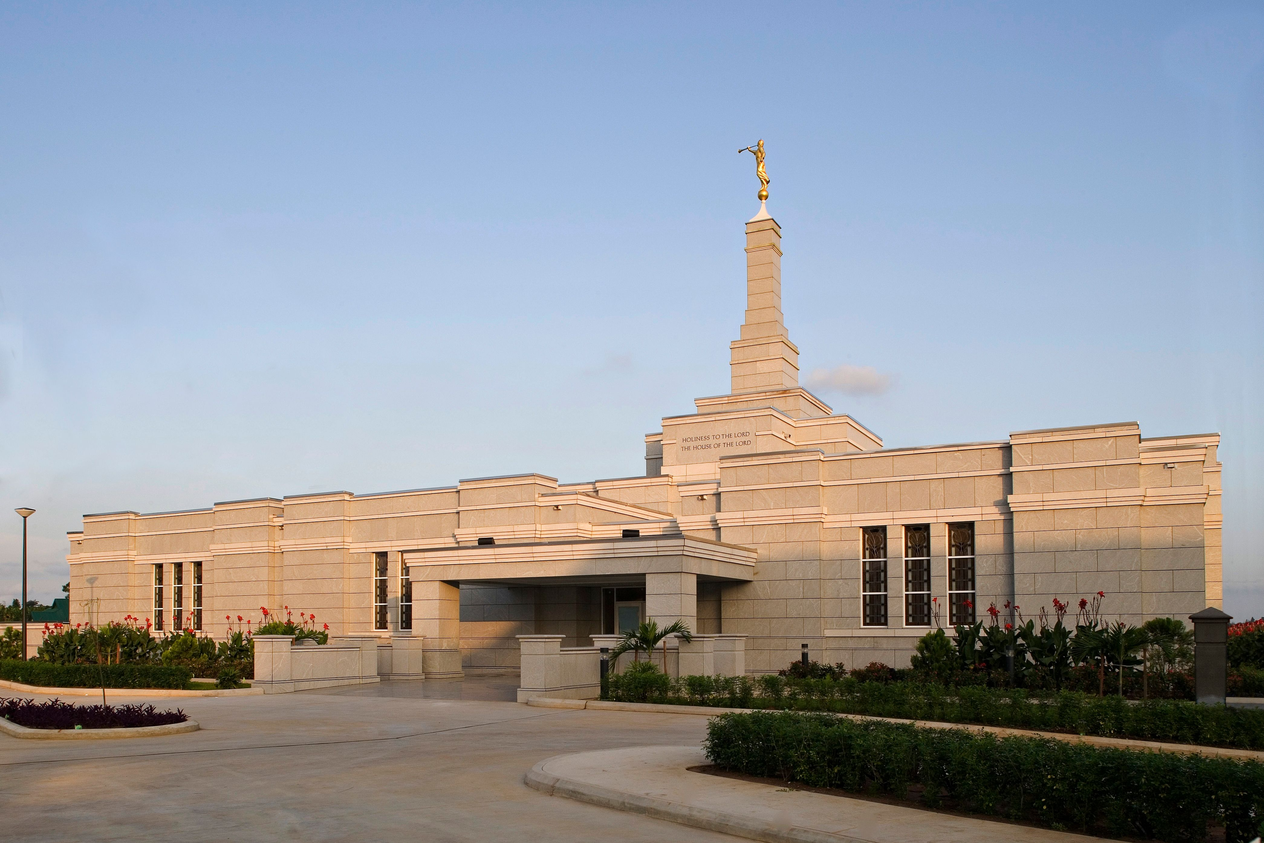 The Aba Nigeria Temple in the daytime.