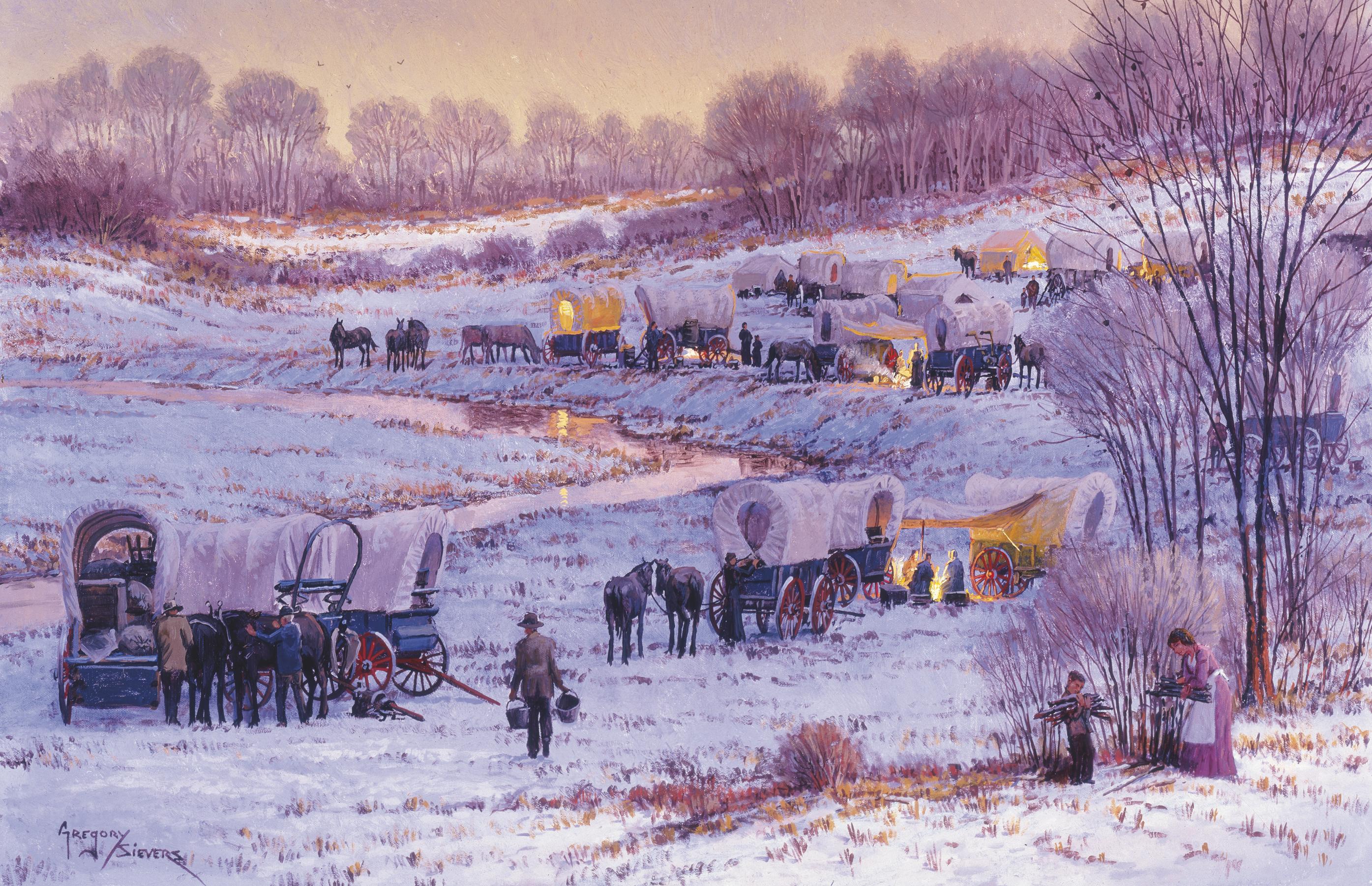 wagons at Sugar Creek