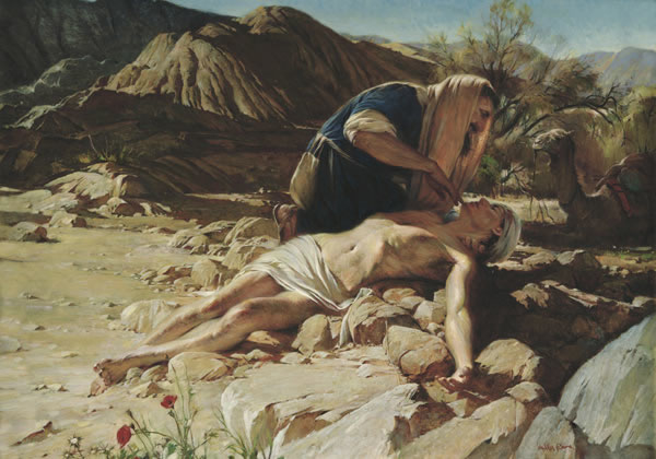 The Good Samaritan, Meetinghouse Art, English
