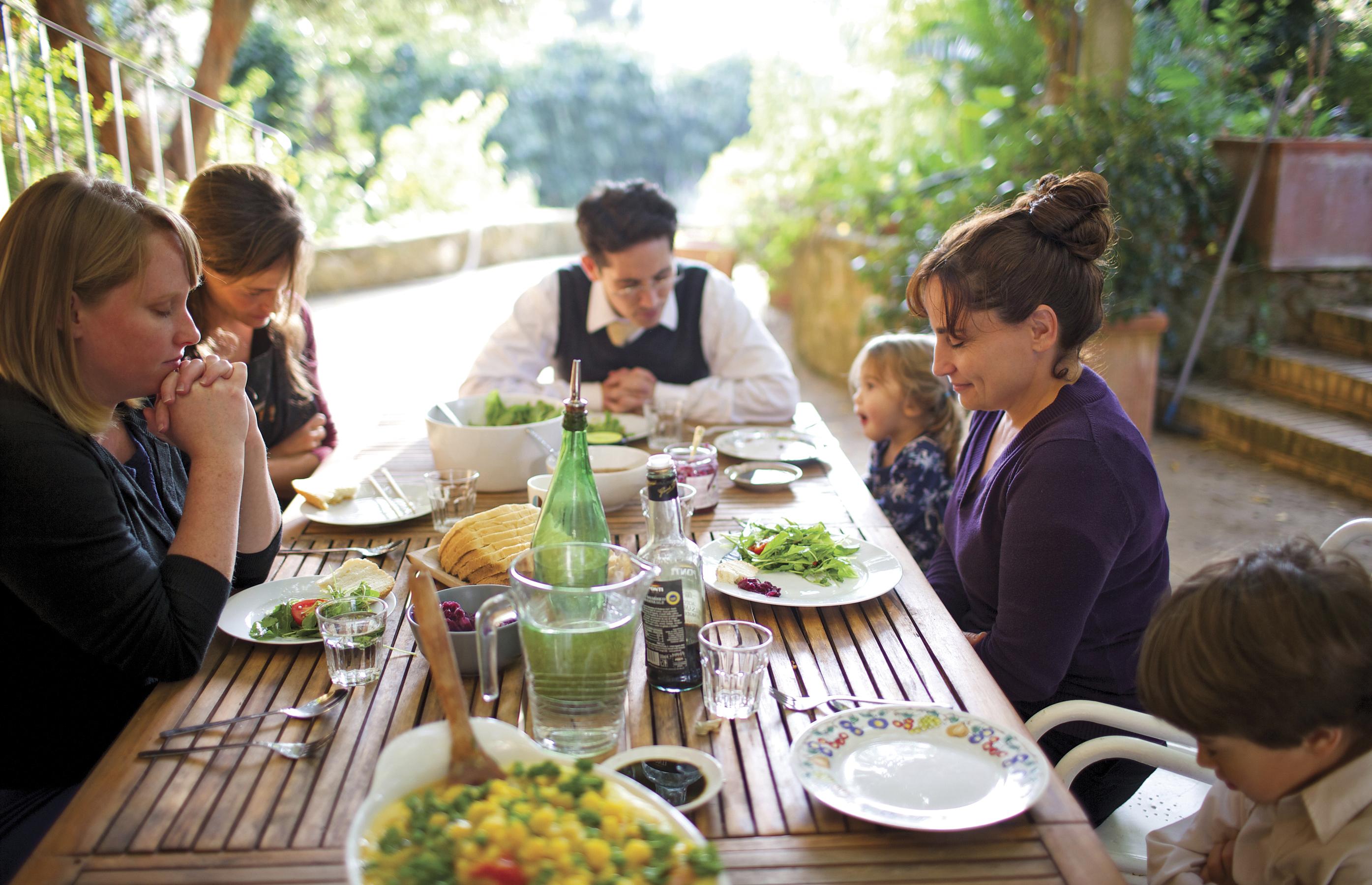 Niki and family at dinner.