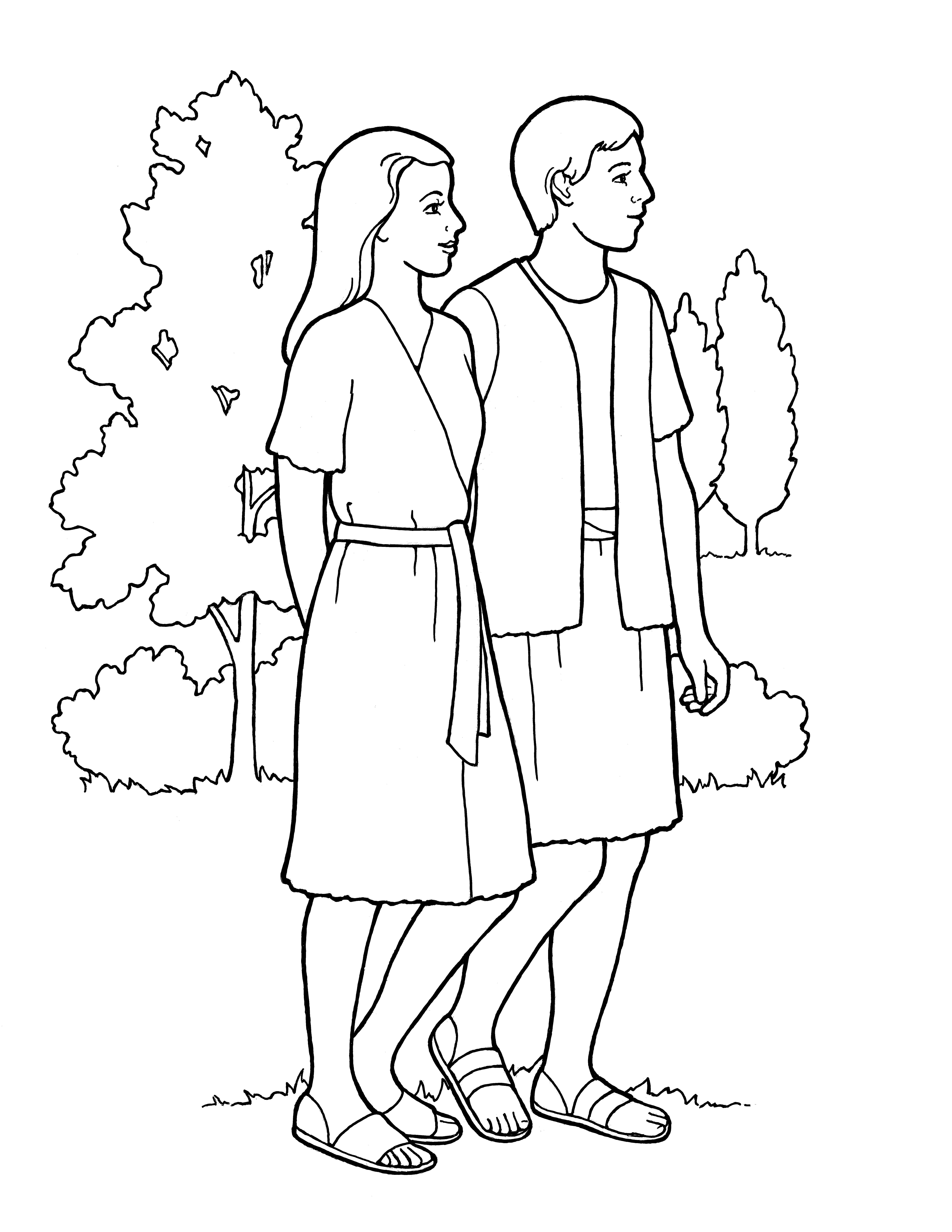 """An illustration of the second article of faith—""""Agency"""" (Adam and Eve in the Garden of Eden)."""