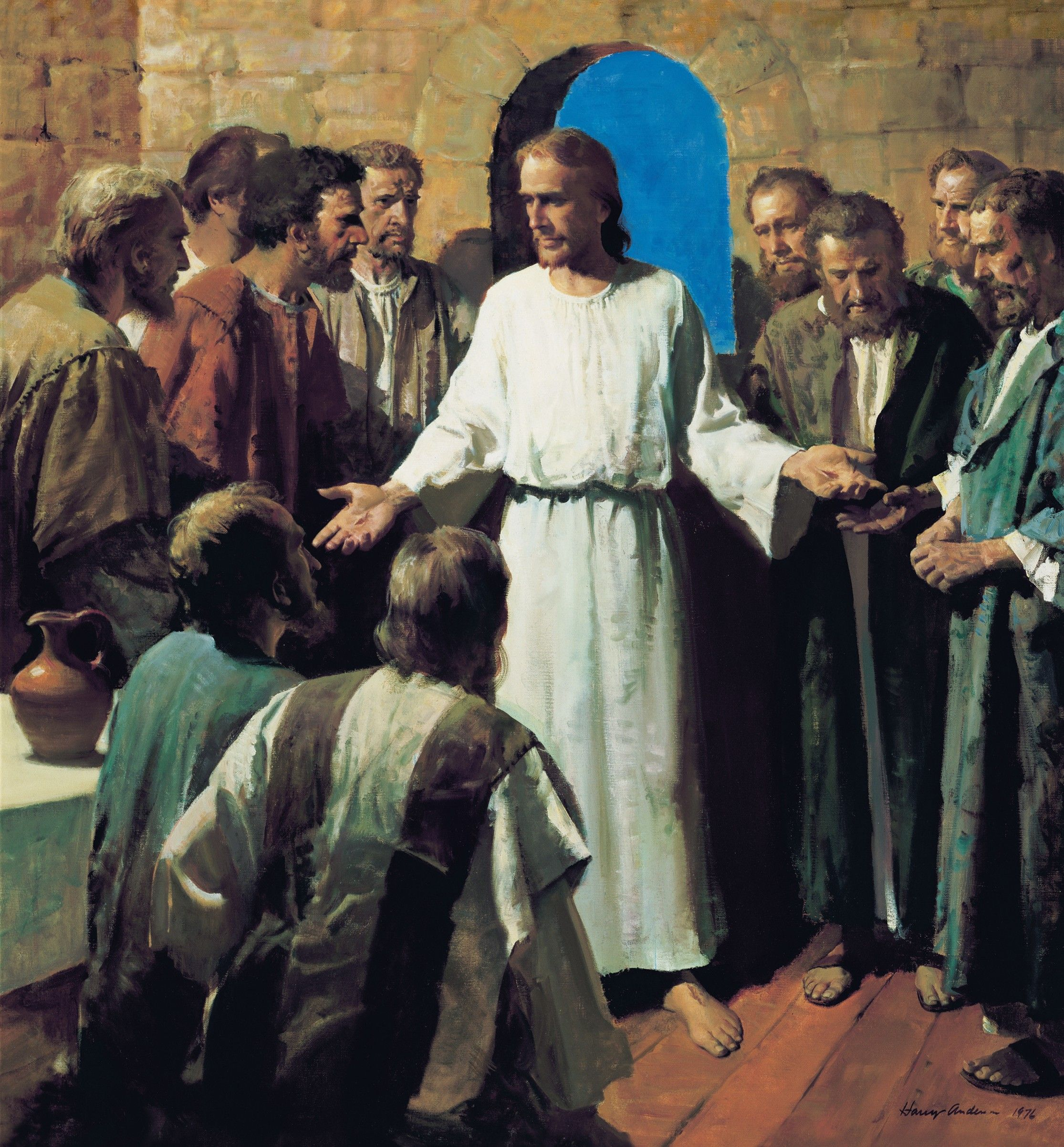 Jesus Shows His Wounds (Behold My Hands and Feet), by Harry Anderson (62503); GAK 234; GAB 60; Primary manual 1-74; Primary manual 2-64; John 3:16; 8:12; 11:25; 14:6; 1 Corinthians 15:20–22