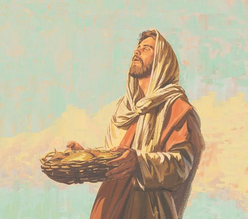 Jesus blessing food