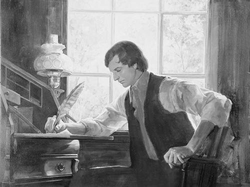 Joseph Smith writing