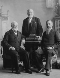 First Presidency of the Mormon Church taken on the 87th birthday of President Wilford Woodruff 1894 [Mar. 2]