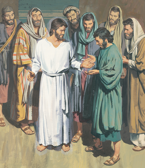 Jesus showing Apostles his hands