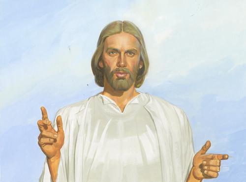 Jesus talking to disciples