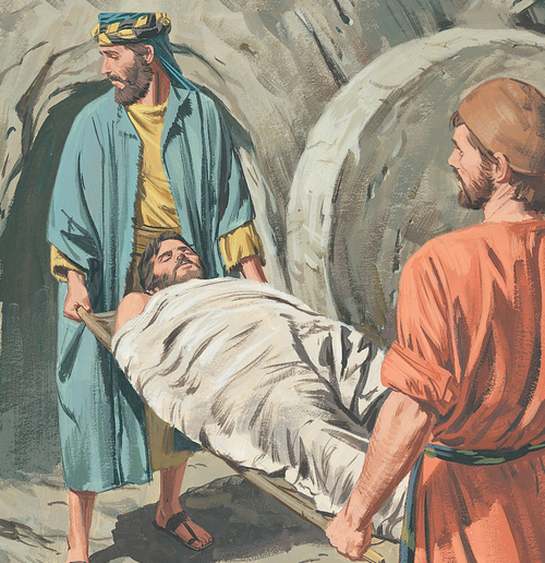 disciples carrying Jesus's body to tomb