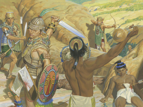 Lamanites fighting