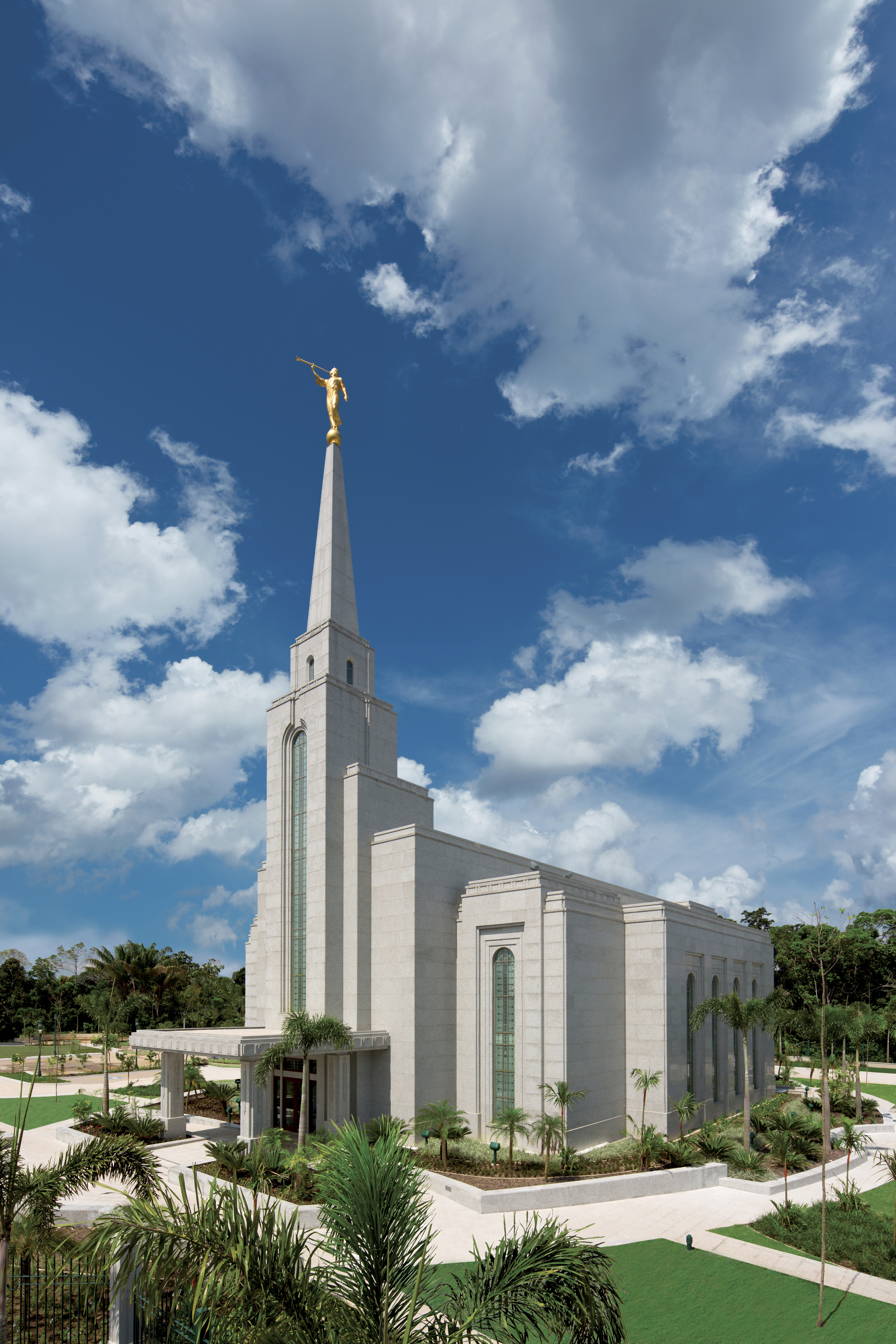 The Manaus Brazil Temple, including the entrance and scenery.